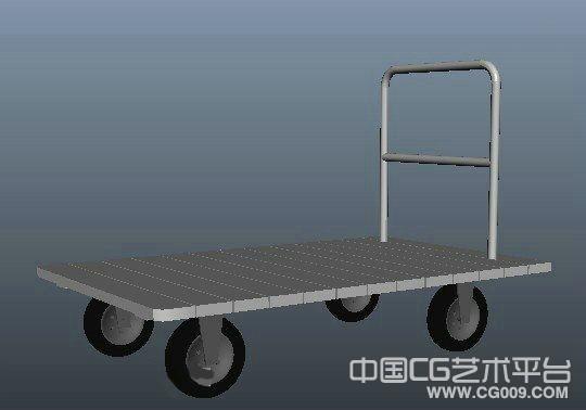 拖车模型 3d拖车 手动拖车模型下载