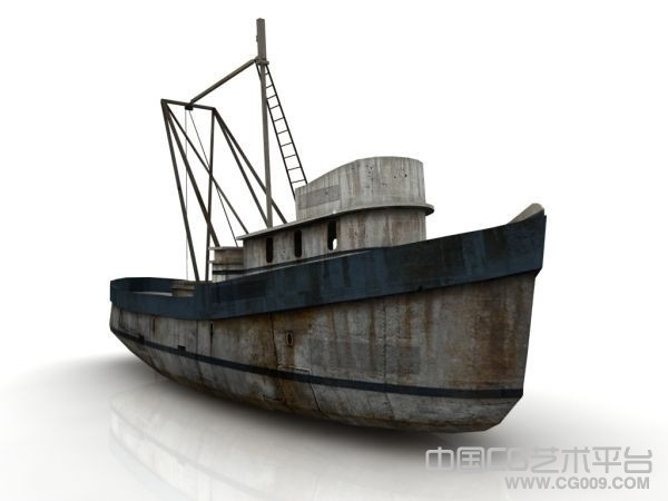 货船模型、渔船模型、打捞船模型下载