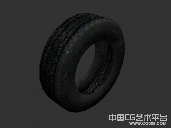 两个个老式轮胎模型下载