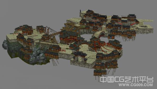 笑傲江湖大型场景模型下载,有完整贴图