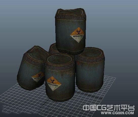 毒气罐,弹药罐,写实铁罐,锈铁罐,铁罐子3d模