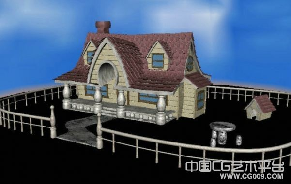 maya卡通院子场景模型下载