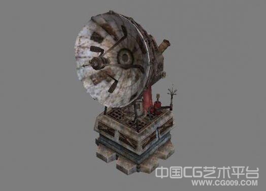 3d次时代废旧卫星接收塔场景莫下载