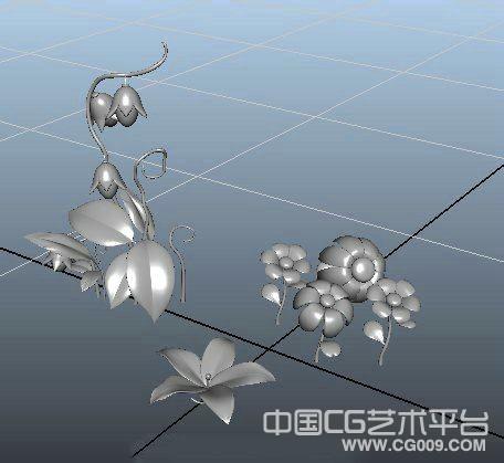 灯笼花模型下载、maya可爱的花朵模型