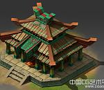 一个Q版的木质小阁楼场景模型下载