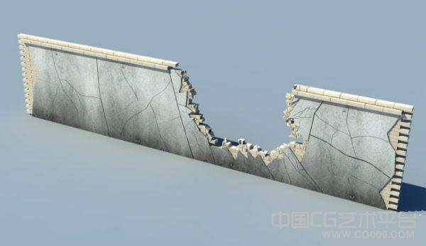 破碎的围墙写实长焦机3d模型下载