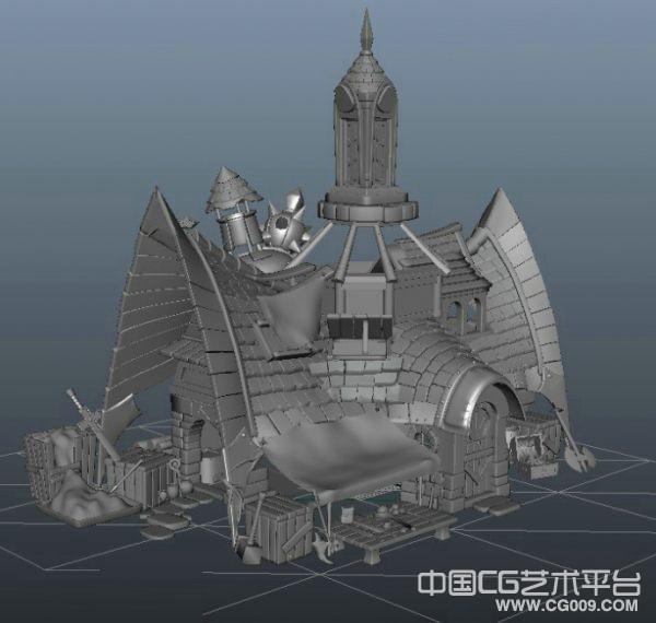 卡通冶炼厂超精细maya卡通场景模型下载