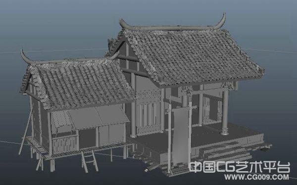 废弃的旧房子写实模型、破房子、老房子模型