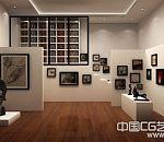 美术馆室内通透效3D室内模型