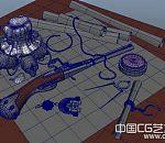 枪支弹药3d模型、地图模型
