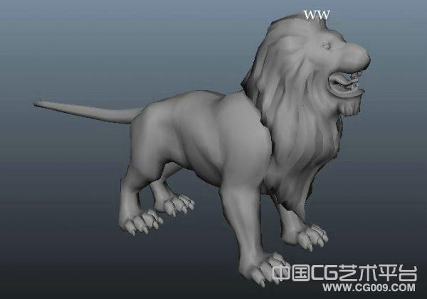 雄性狮子maya模型下载
