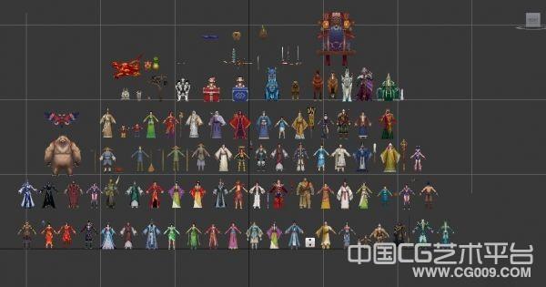 《诛仙》75个人物角色NPC模型合集下载