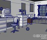 学生时代的maya写实卧室场景模型