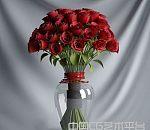 一束玫瑰花3d模型下载