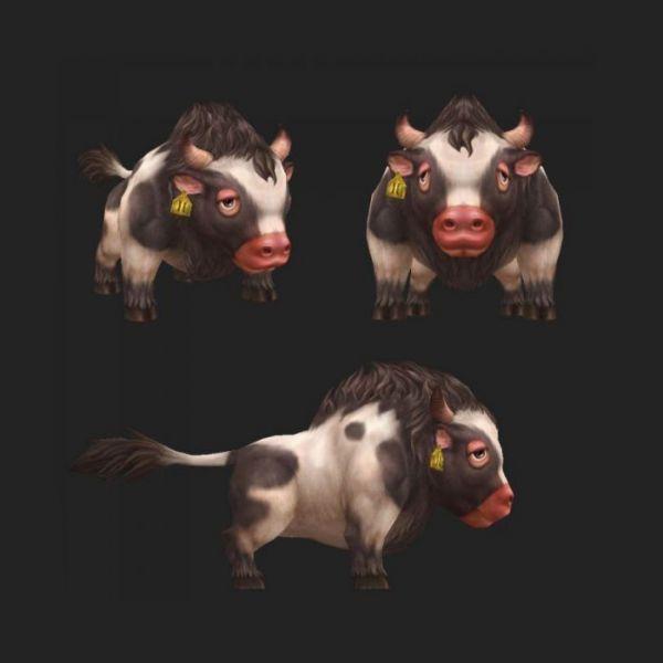 极品小奶牛3d动物模型下载