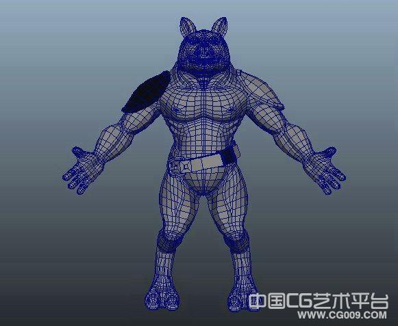 一个熊人maya模型下载