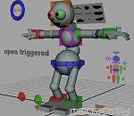 带绑定带表情的maya机器人模型下载