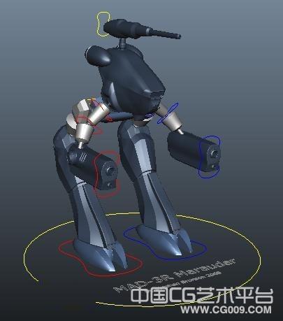 带武器的双枪机器人模型下载