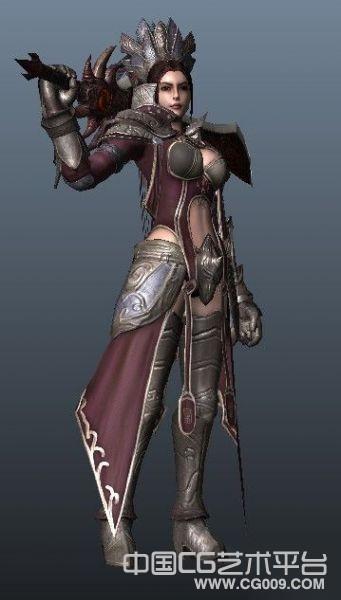 次时代3d写实女战士模型下载