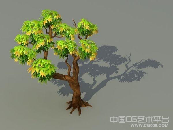 一颗不错的卡通风格的树木模型