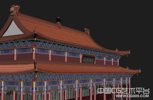 非常精细的3d古代皇宫宝殿建筑模型下载