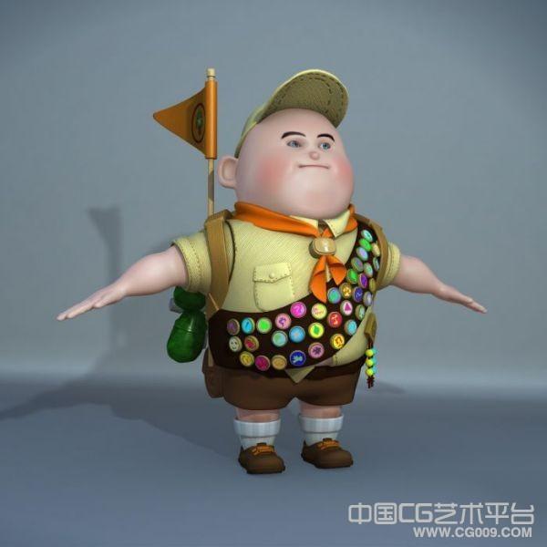 飞屋环球记maya胖小孩动画模型下载