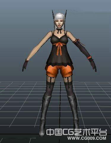 性格吊带MMmaya角色模型下载
