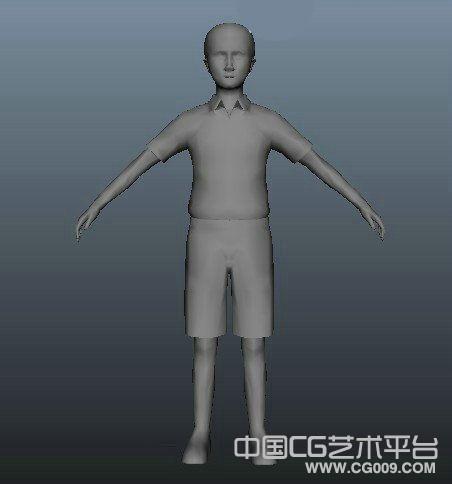 maya少年动画角色模型下载