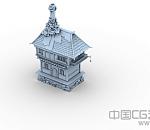 古代小房子 高模精致