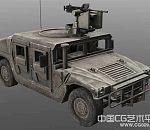 次时代军用卡车旧军车配枪卡车3d模型下载 带贴