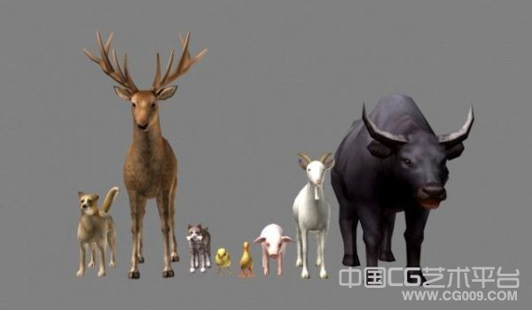 一批游戏家禽动物模型+怪物模型下载