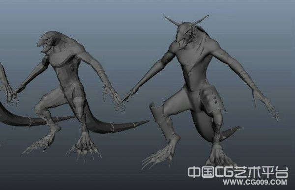 蜥蜴人3d怪物模型下载