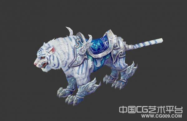 很漂亮的白虎坐骑3d模型下载