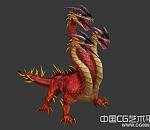 三头恶龙3d怪物模型下载