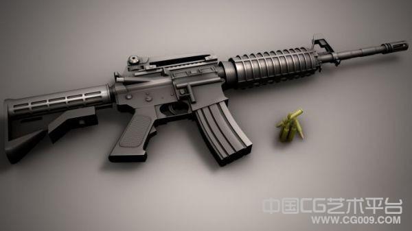 M4a1卡宾枪3d模型下载