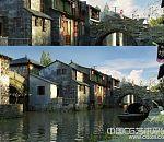 写实古镇周庄3d电影建筑模型下载  带贴图
