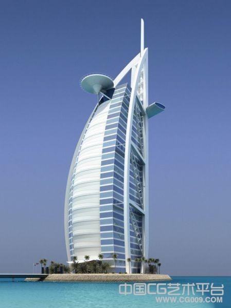 迪拜阿拉伯塔3d建筑模型下载