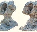 比较怪异的3d写实石头石灰岩假山模型下载