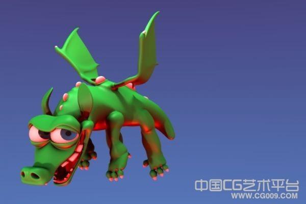 非常可爱的卡通龙宝宝3d模型下载