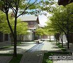中国建筑风格高级酒店室外建筑模型下载