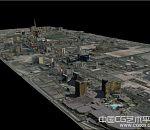 拉斯维加斯城市鸟瞰建筑模型下载