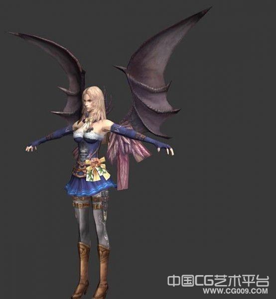 带翅膀的女精灵3d模型下载