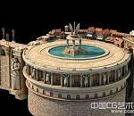 科幻写实城堡建筑模型下载