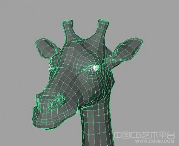 长颈鹿maya写实模型下载