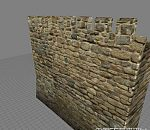 欧式古堡碉堡围墙烟囱鹅卵石城堡建筑场景模型
