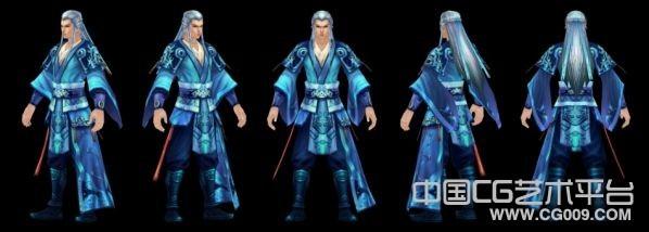 武侠游戏中的古代小生3d角色