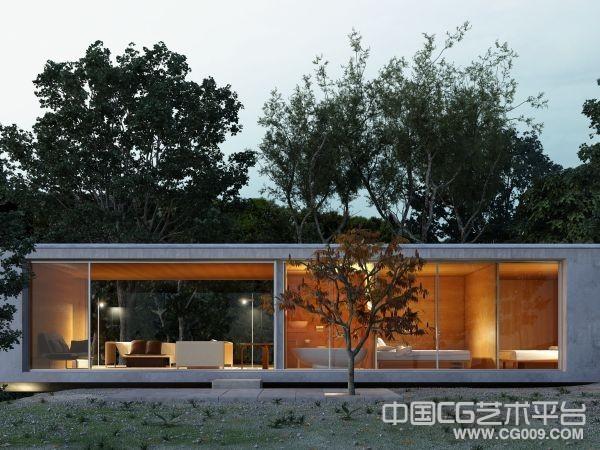 旅游区高级休闲会所3d建筑模型下载  带完整贴图