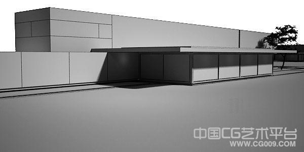 水上高档别墅3d建筑模型下载