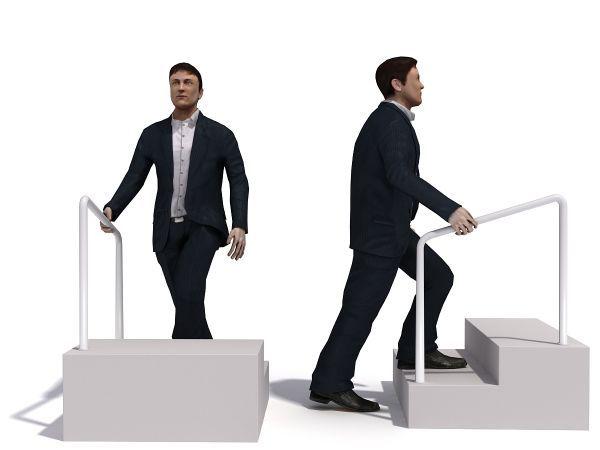飞机场进站男人模拟动作模型下载