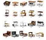 桌子椅子模型大全,喜欢的下载了